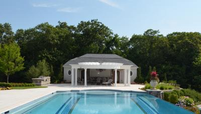 11381174704y pool cabana design ideas bergen county nj 2 LUXURY OUTDOOR DESIGN   POOL, KITCHEN AND CABANA   BERGEN COUNTY NJ