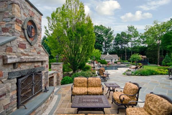 Landscape Architects-Outdoor Fireplace-Bergen County NJ