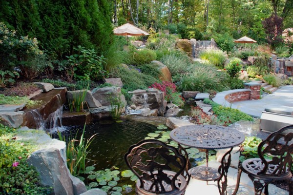 Natural planting pond design NJ 600x400 NJ Landscape Design Company