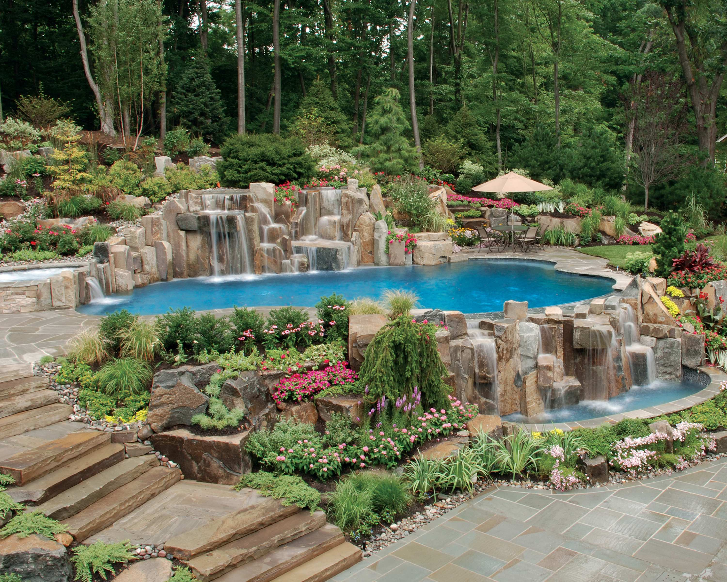 Swimming Pool Waterfall Designs Naturalswimmingingroundpoolwaterfalldesignnj  Cipriano