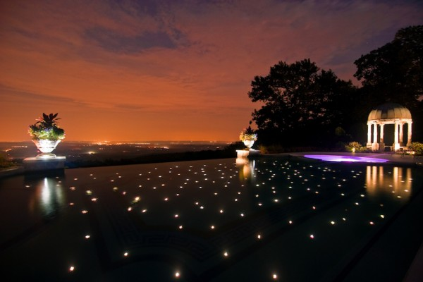 fiber optic star lights inground negative edge pool builder 600x400 NJ Custom Inground Pool Builder