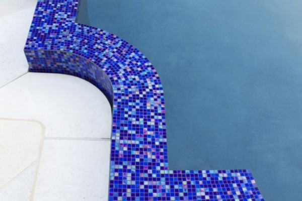 inground glass tile pool details 600x400 NJ Custom Inground Pool Builder