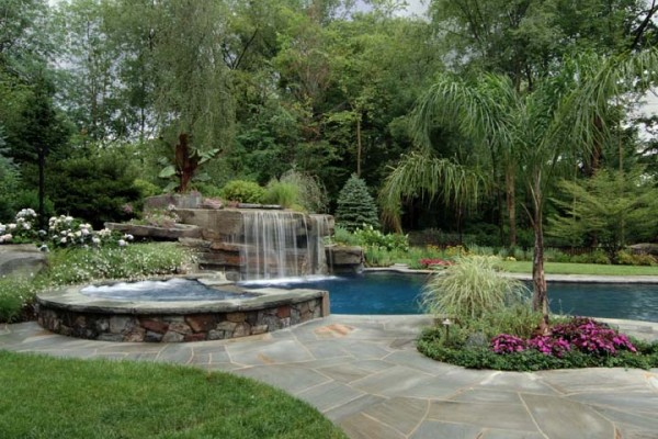 natural lush landscape pool trees NJ 600x400 Landscaping Plants & Nursery  Specimen Trees & Plants