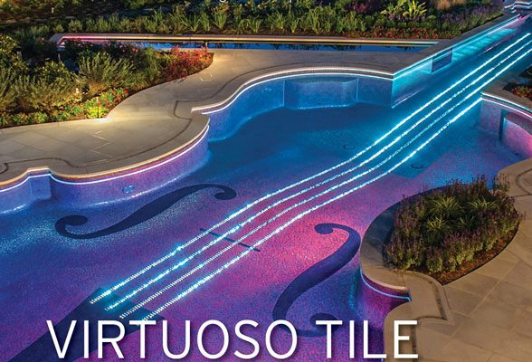 Bedford ny Aqua magazine photo cover violin galss tile swimming pool 588x400 Bedford NY Glass Tile Pool & Spa