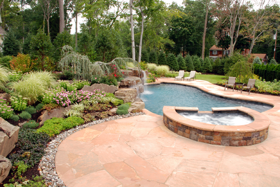 High Quality Natural Stone Patio Wall Design For Pools Landscaping NJ