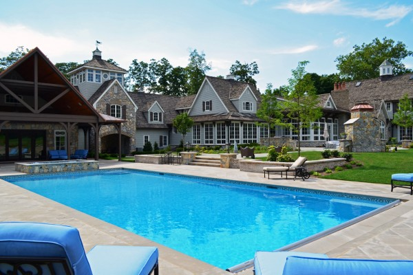 Far Hills NJ award winning custom swimming pool 600x400 Award Winning Pools & Landscaping