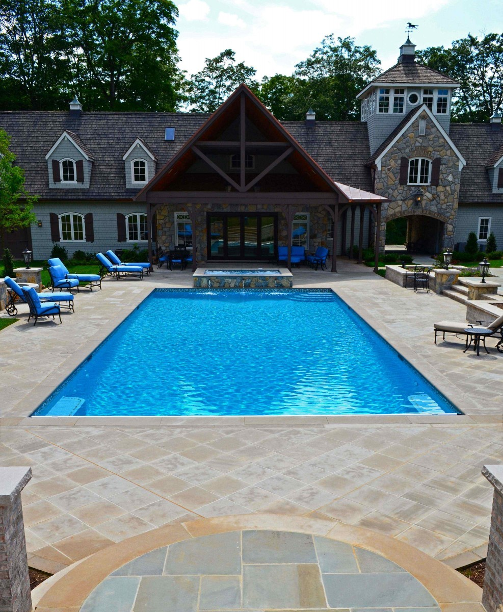 Swimming Pool Patio Designs Natural Stone Patio & Wall Design For Pools & Landscaping Nj