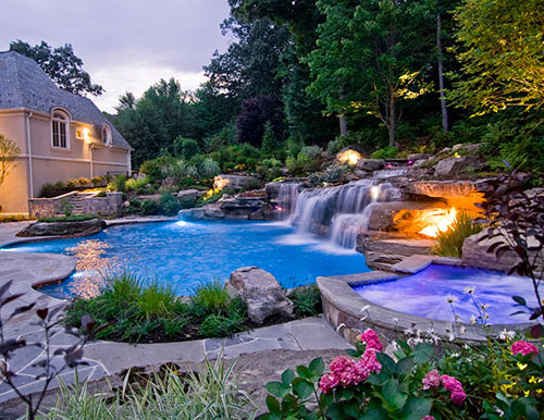 Lalonde Night1 NJ Custom Inground Pool Builder