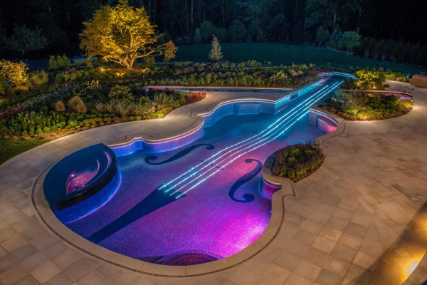 NJ pool company violin luxury design 600x400 Luxury Swimming Pools
