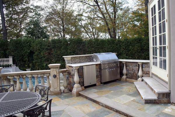 Outdoor Granite Precast BBQ Grill Design Installation company 600x400 Pool & Landscaping Testimonials