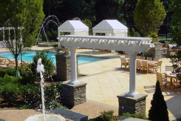 Pool pergola gazebo design 600x400 Pergolas & Gazebos