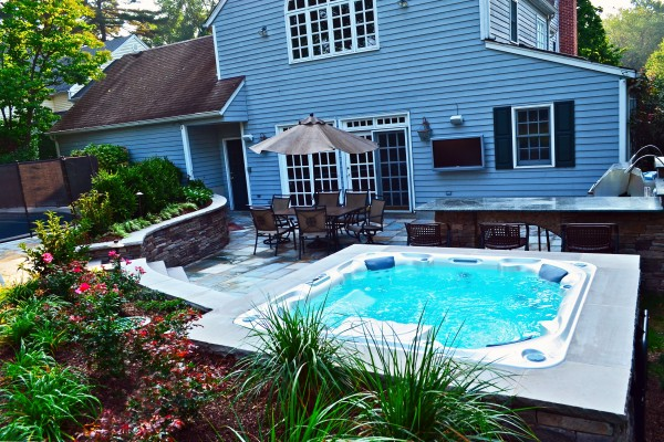 Ridgewood NJ award winning spa patio design 600x400 Award Winning Pools & Landscaping