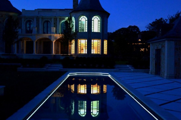 alpine nj award winning LED light pool design 600x400 Award Winning Pools & Landscaping