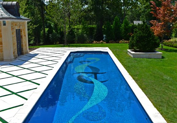alpine nj award winning glass tile inlay pool design 576x400 Award Winning Pools & Landscaping
