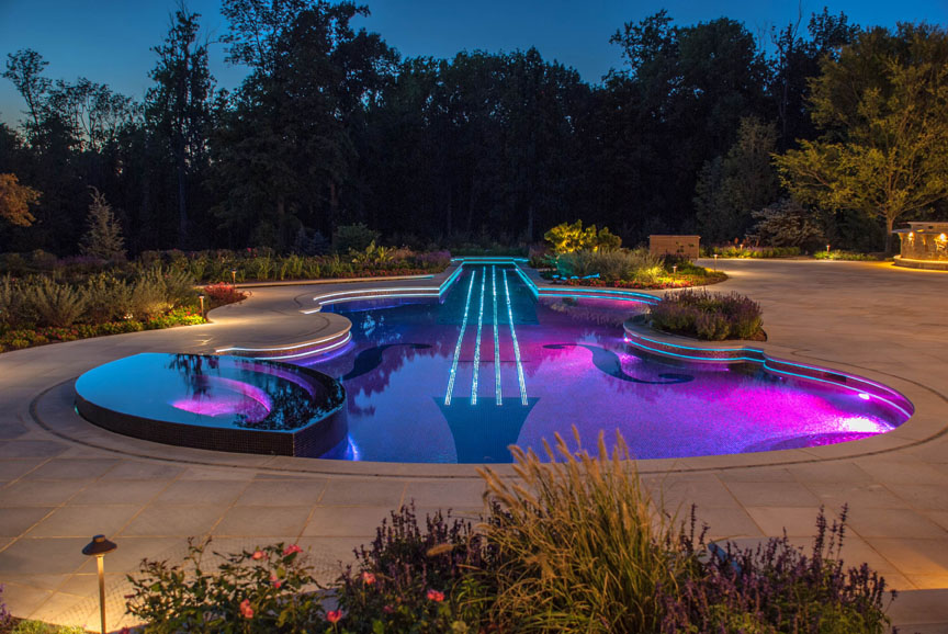 bedford ny glass tile pool spa cipriano landscape design and custom swimming pools - Best Swimming Pool Designs