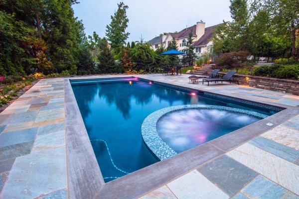 caldwell nj award winning spa pool design 600x400 Award Winning Pools & Landscaping