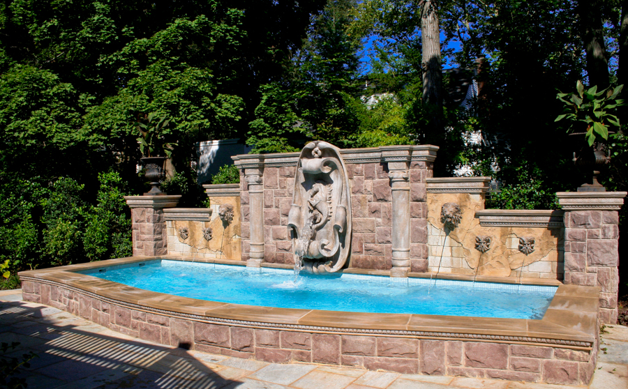 2014 the national landscape award of excellence grand award from the professional landscape network planet custom inground dipping pool design - Pool Designs Ideas