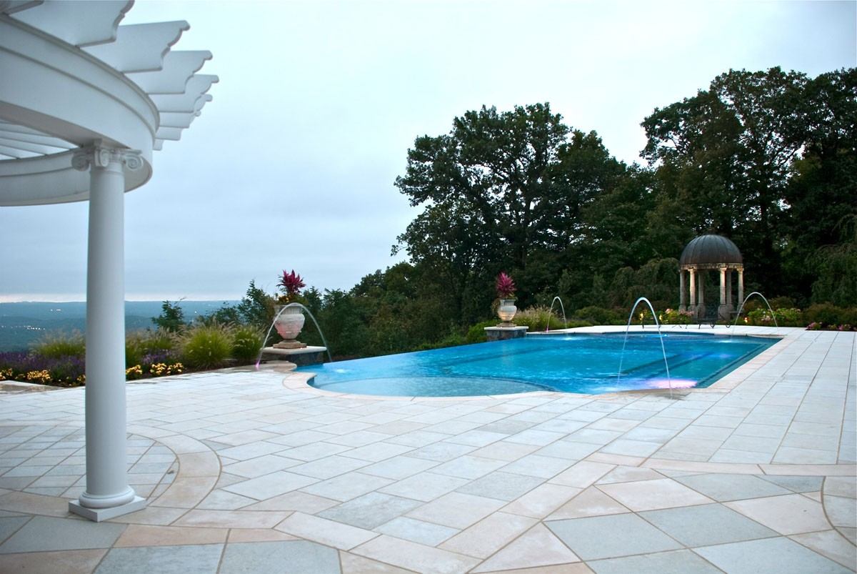 Natural Stone Patio Amp Wall Design For Pools Amp Landscaping Nj