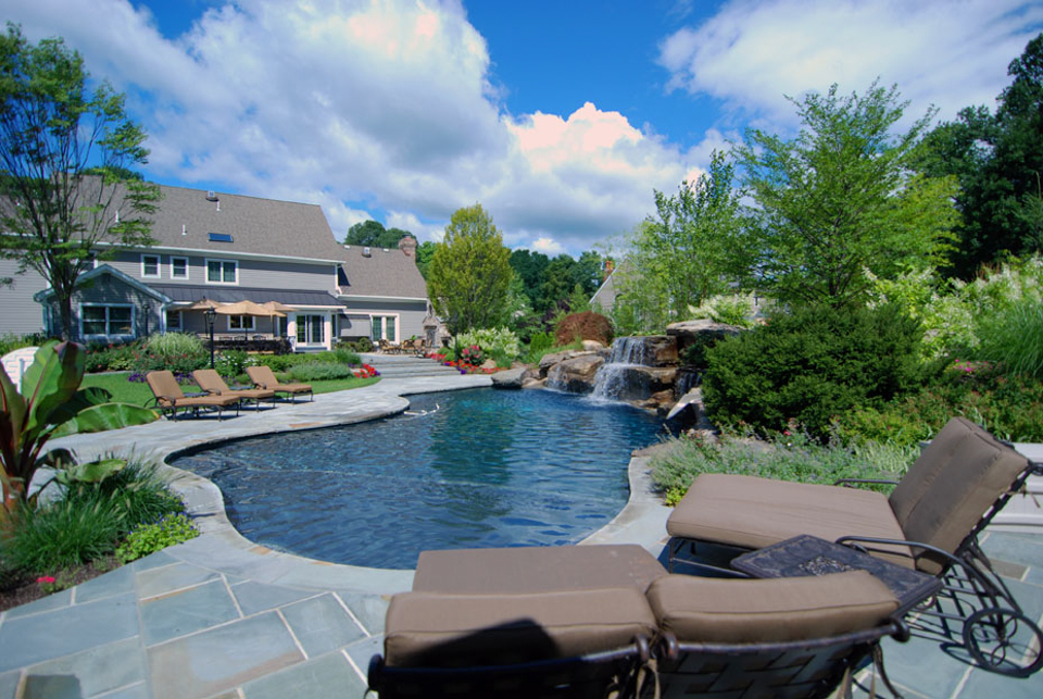 Beautiful landscaping gardens cipriano landscape design nj for Pool design hamilton nj