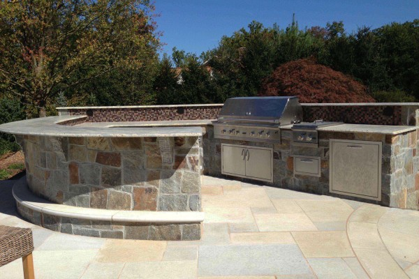 Outdoor Grilling Bar Construction : Outdoor kitchen bbq design installation bergen county nj