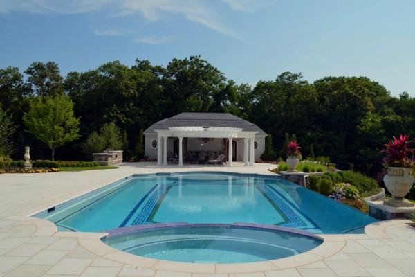 inground formal glass tile pool design ideas nj 600x400 Pool Design