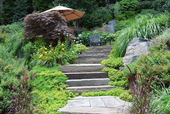 landscape garden natural stone masonry 596x400 Natural Stone Mason Contractor