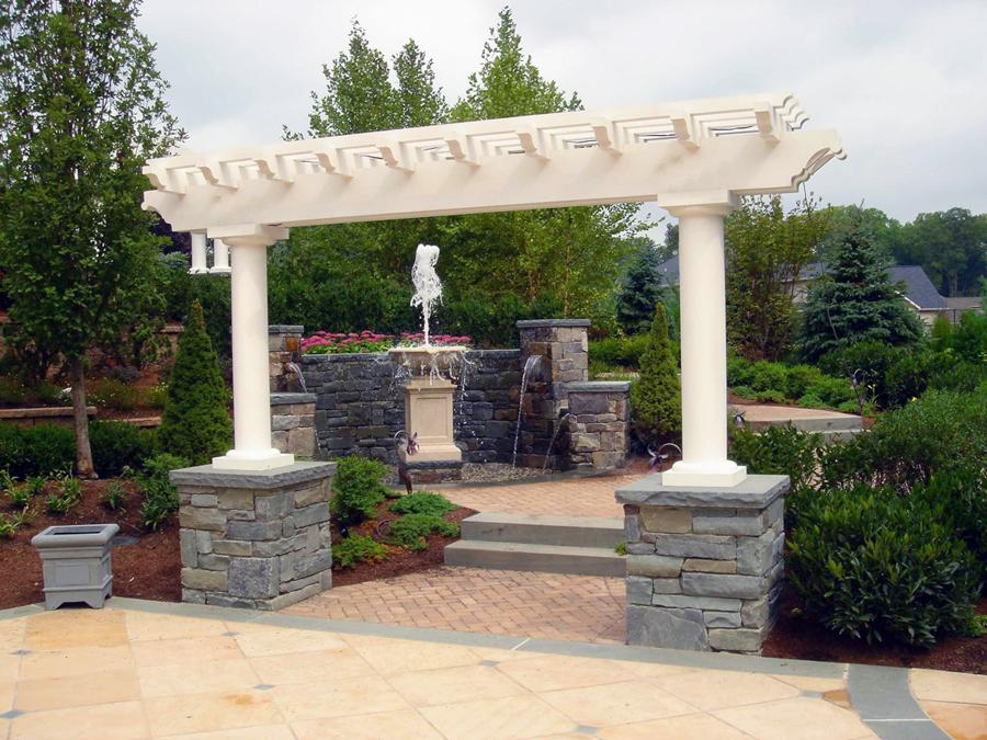 Custom pergolas gazebo luxury outdoor garden structures nj for Custom garden designs