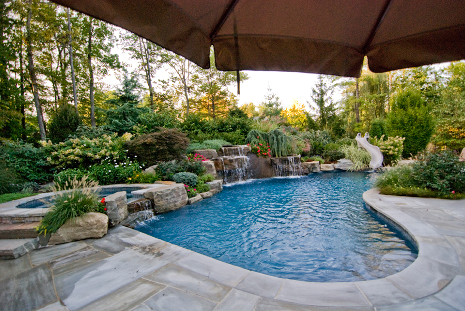 Beautiful landscaping gardens cipriano landscape design nj for Custom indoor pools