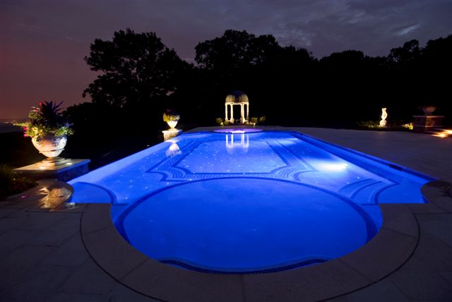 landscaping pool night lighting kinnelon nj 600x401 landscaping pool night lighting kinnelon nj : swimming pool lighting - azcodes.com