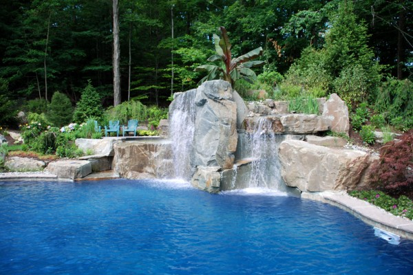 large tropical outdoor waterfall pool design 600x400 Pool & Landscaping Testimonials