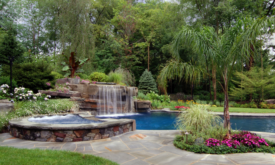 Nj planting design ideas for formal natural landscapes for Pool and garden design