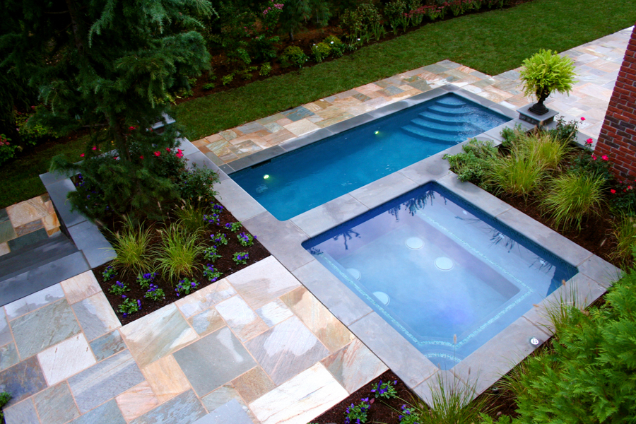 in ground pool ideas wooden decks around small above ground pools pool designs ideas formal inground