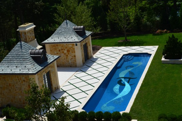 luxury glass tile inground swimming pool ideas nj 600x400 Luxury Swimming Pools