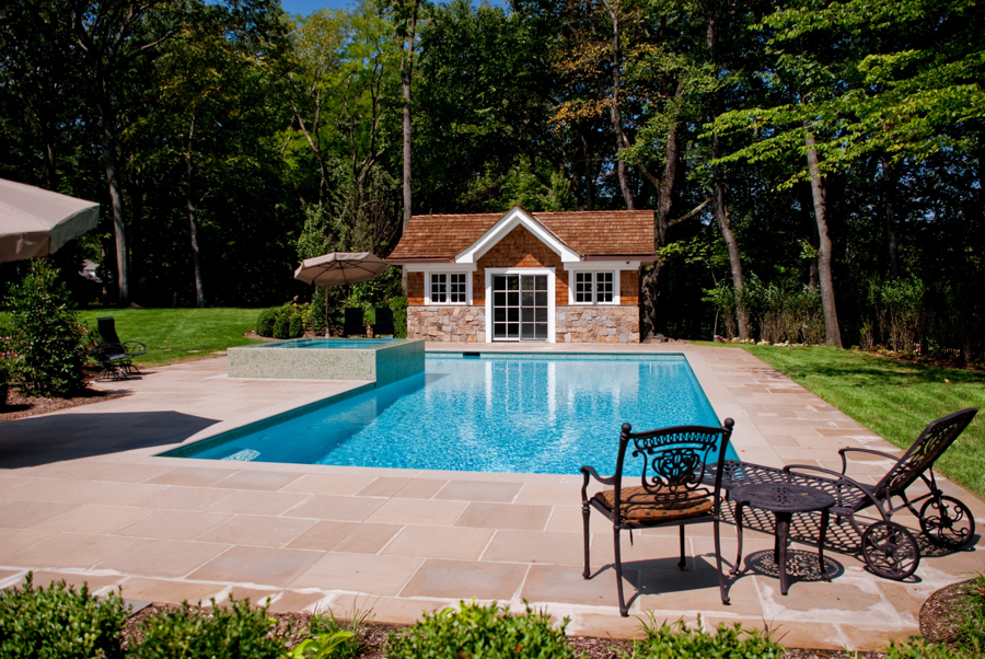Luxury inground swimming pool waterfalls custom design for Pool design nj