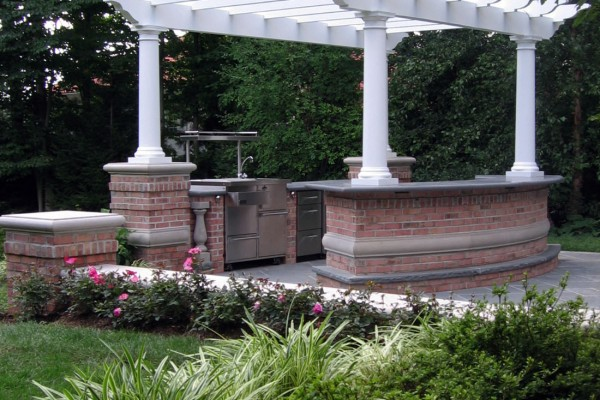 luxury outdoor bar kitchen design pergola 1 600x400 Pergolas & Gazebos