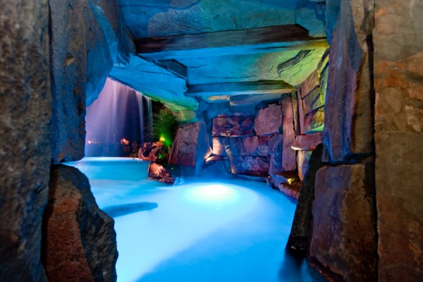 luxury pool grotto and waterfalls custom design ideas nj 600x400 Luxury Swimming Pools