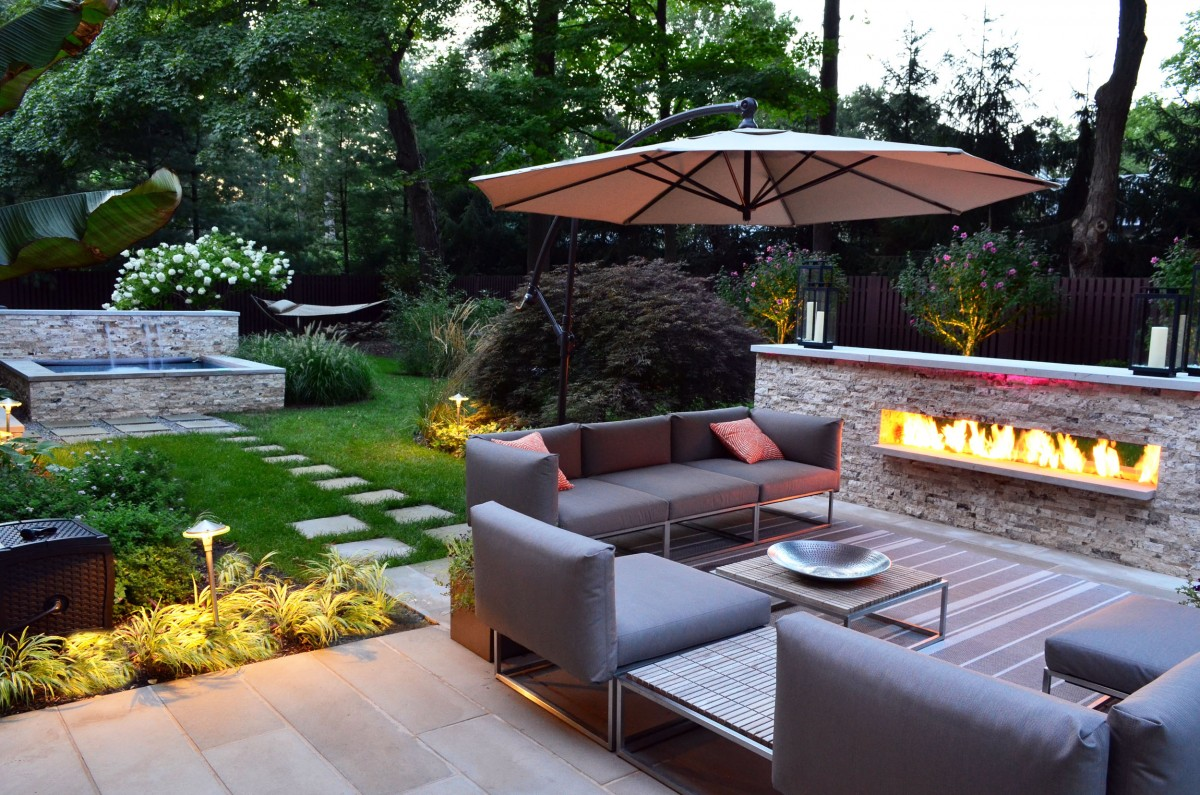 outdoor fireplace fire pit design installation northern nj