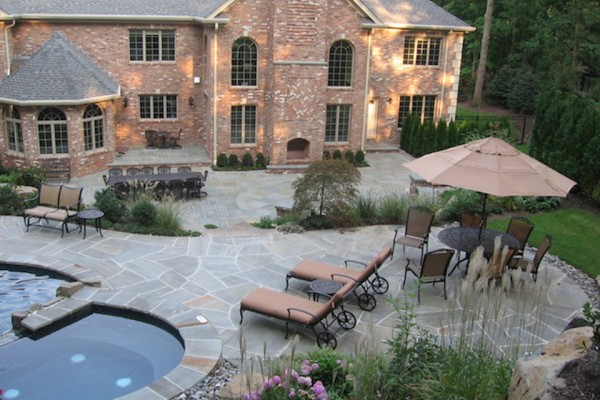 natural infinity edge inground swimming pool patio landscape design saddle river nj 600x400 Pool & Landscaping Testimonials