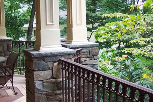 natural stone masonry deck pier design 600x400 Masonry  Stone Patios & Walls