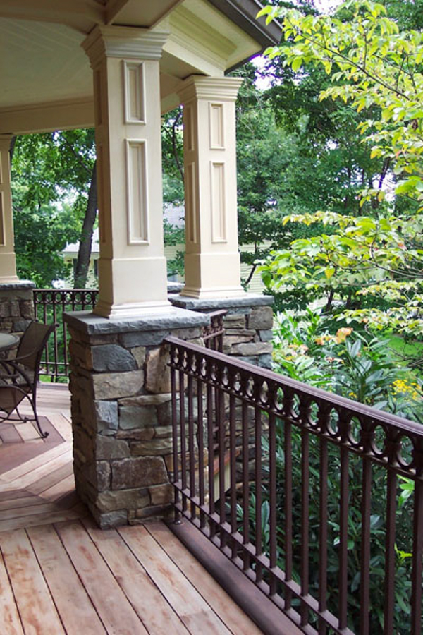 Rock Porch Pillars : Natural stone patio wall design for pools landscaping nj