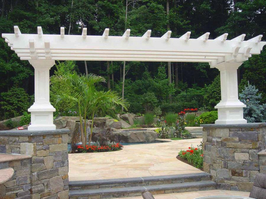 natural stone masonry pier arbor design 600x450 natural stone masonry pier arbor design