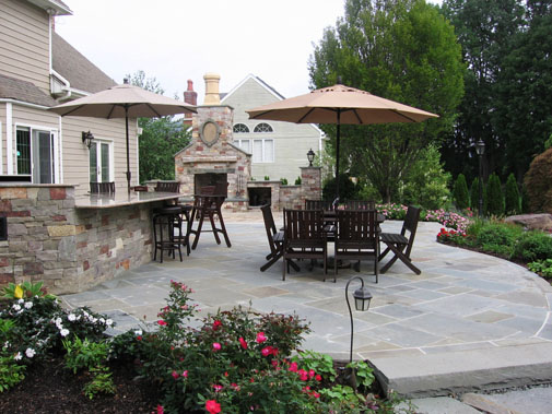 natural stone patio design fireplace company Pool & Landscaping Testimonials