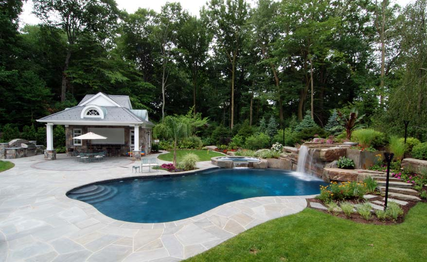 Cabana pergola gazebo design nj landscape architecture for Swimming pool cabanas
