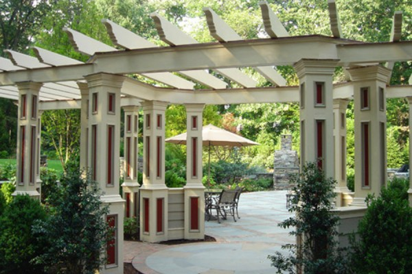ornate custom outdoor pergola design 600x400 Custom Cabana, Pergola & Gazebo Design