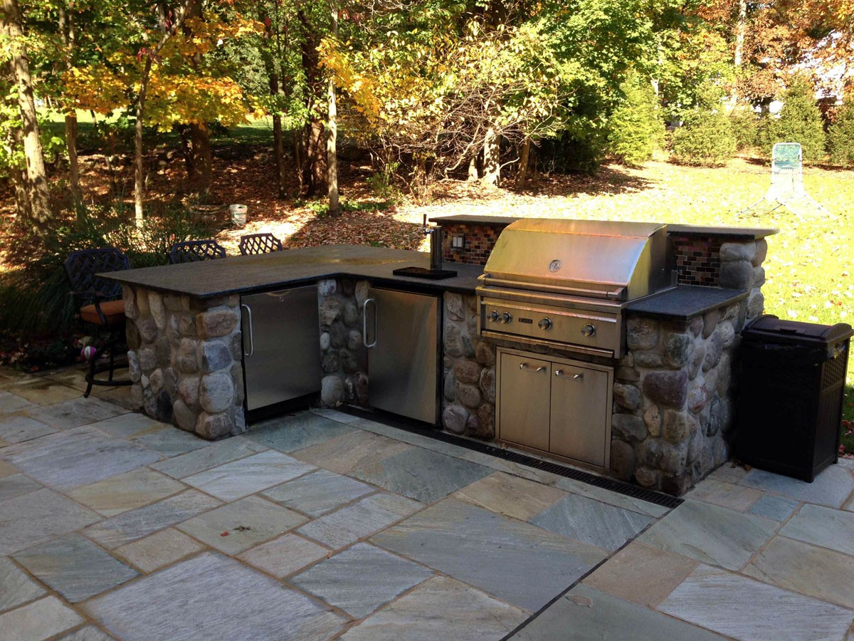 Custom Outdoor Kitchen Designs outdoor kitchen & bbq design & installation bergen county nj