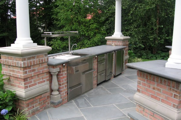 outdoor kitchen natural stone masonry 600x400 Natural Stone Mason Contractor