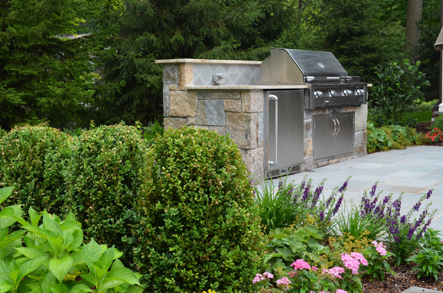 Outdoor kitchen bbq design installation bergen county nj for Outdoor kitchen refrigerators built in