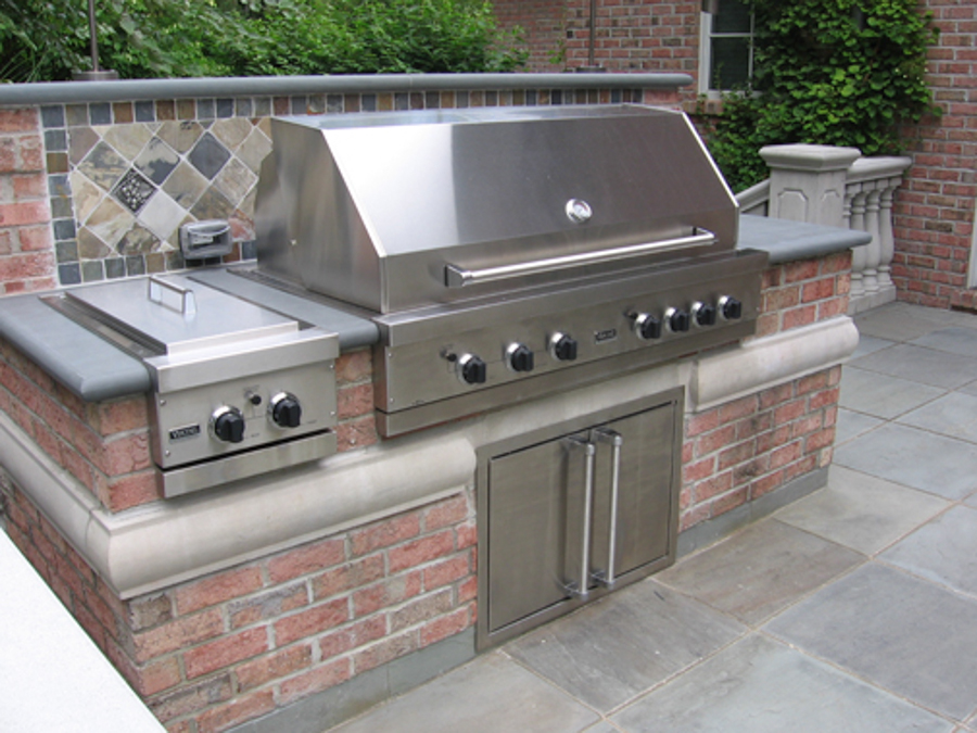 Outdoor kitchen bbq design installation bergen county nj for Outdoor kitchen barbecue grills