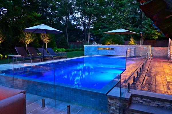 2013 best pool design award indoor outdoor swimming pool for Pool show lyon france