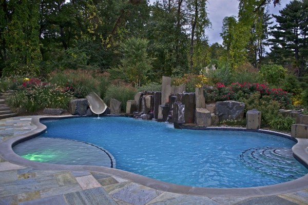 rockland county ny award winning natural waterfall swimming pool 600x400 Award Winning Pools & Landscaping